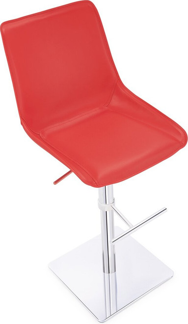 Magnifico Signature Real Leather Bar Stool Red