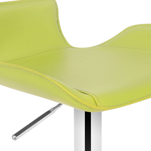 Favoloso Leather Bar Stool Lime Green