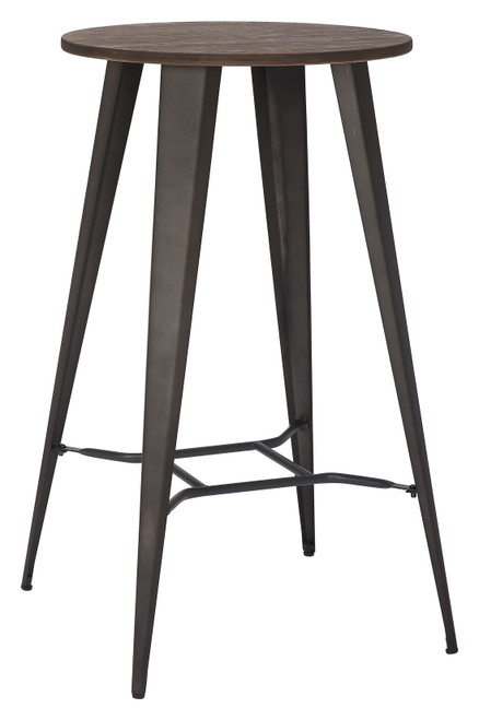 Tolix Rustic Round Bar Table