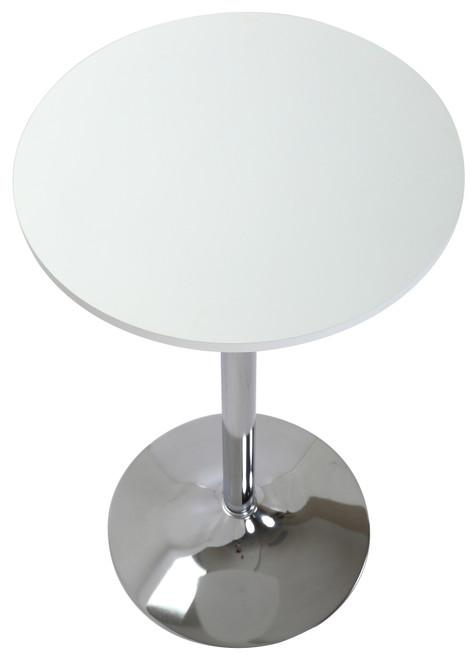 Como Poseur Table Round White Wood
