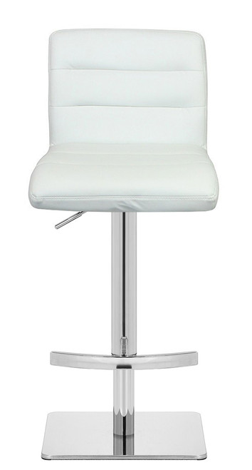 Deluxe Luscious Crescent Bar Stool White