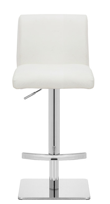 Deluxe Snella Crescent Bar Stool White