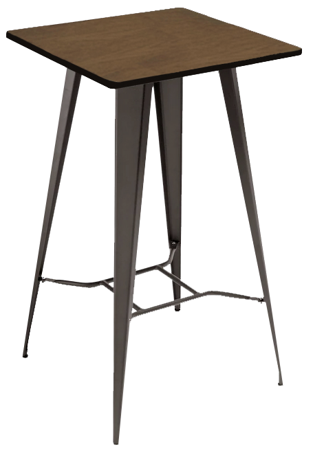 Antico Bar Stool and Tolix Square Table Package