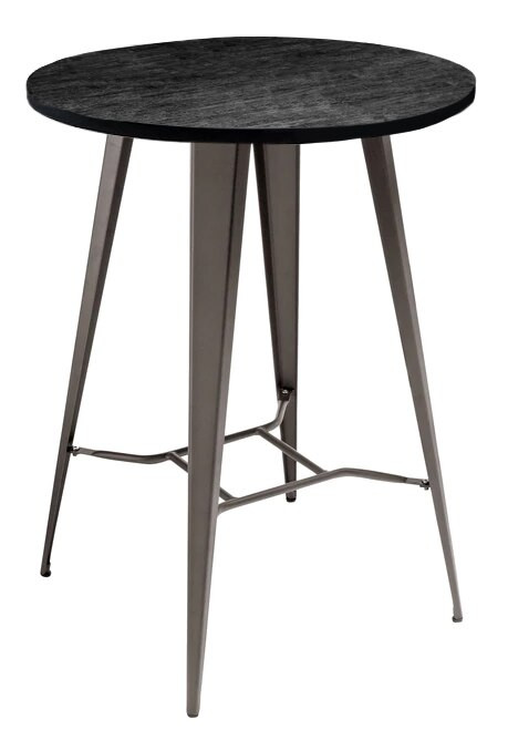 Antico Bar Stool and Tolix Round Table Package