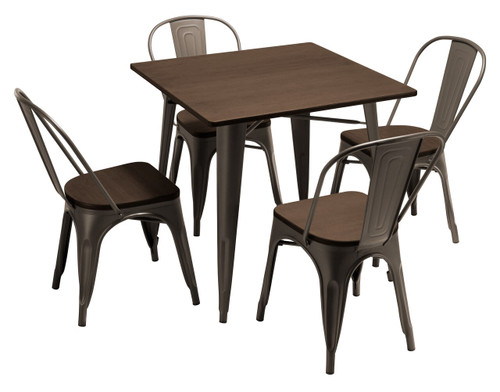 Tolix Chair and Small Sardinia Table Package