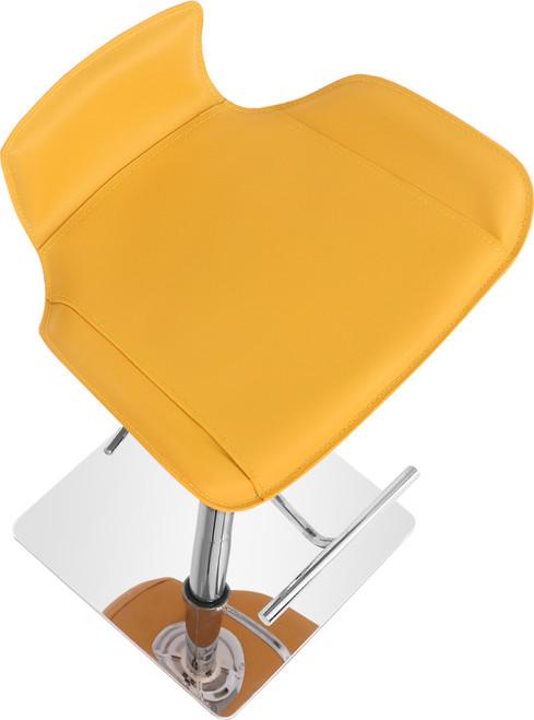 Favoloso Signature Leather Bar Stool Mustard