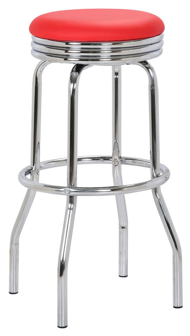 Retro Bar Stool Red