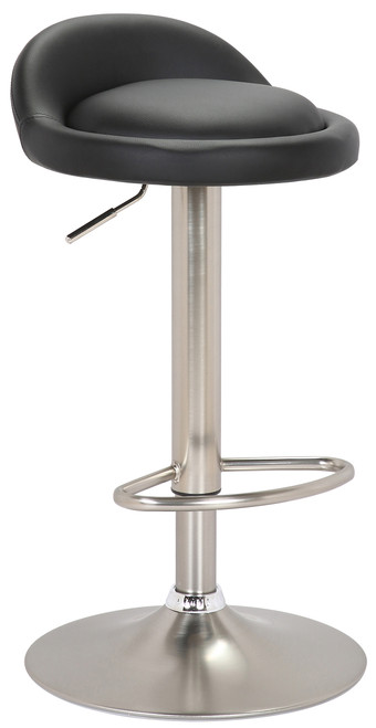 Sofia Brushed Bar Stool Black