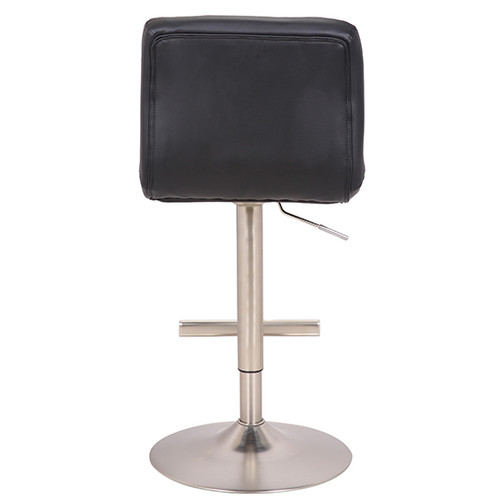 Allegro Brushed Bar Stool Black