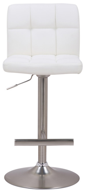 Allegro Brushed Bar Stool White