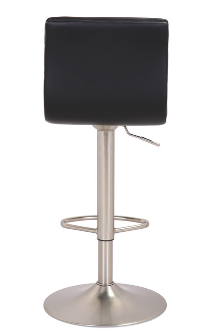 Aldo Brushed Bar Stool Black