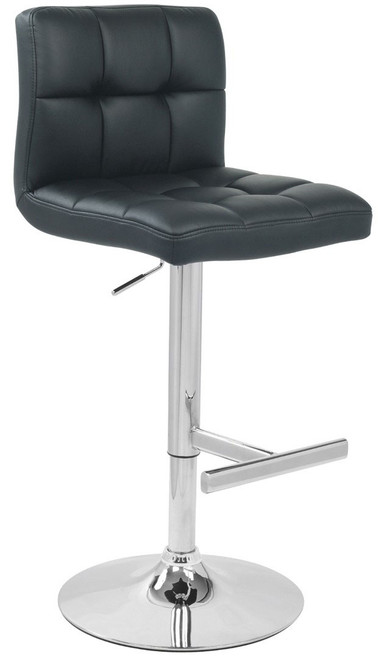 Allegro Leather Bar Stool Black