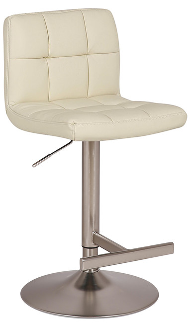 Allegro Leather Brushed Bar Stool Cream