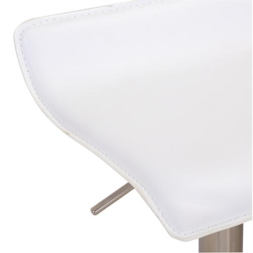 Baceno Brushed Bar Stool White