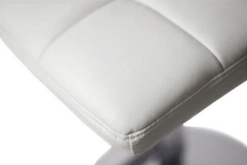 Allegro Leather Bar Stool White