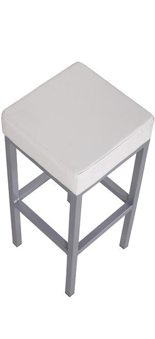 Cube Bar Stool White