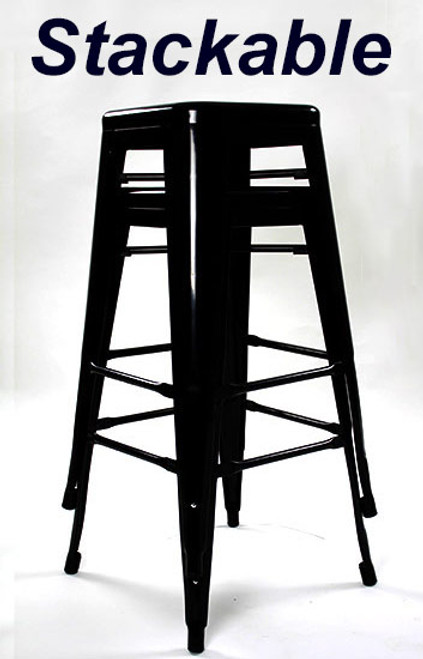 Set of 2 Oslo Bar Stools Black