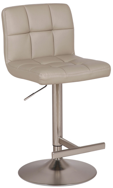 Allegro Brushed Bar Stool Grey