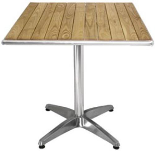 Square Ash Top Bar Table