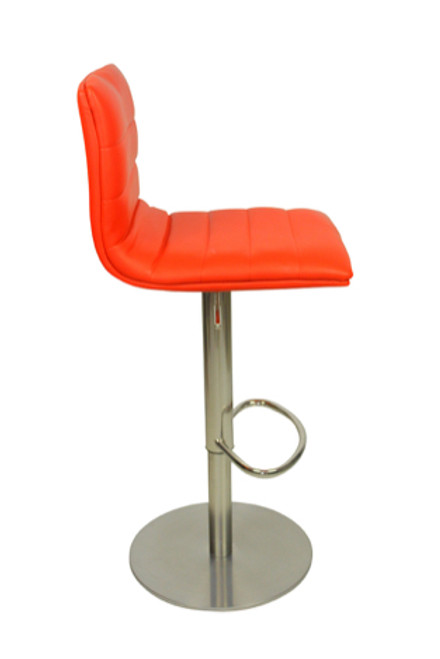 Deluxe Aldo Brushed Bar Stool Red