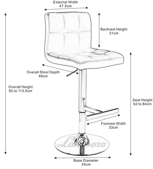 Deluxe Allegro Bar Stool Brown Square Base