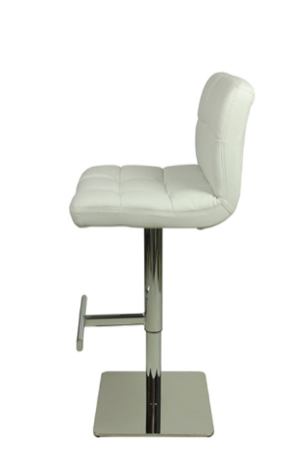 Deluxe Allegro Bar Stool White Square Base