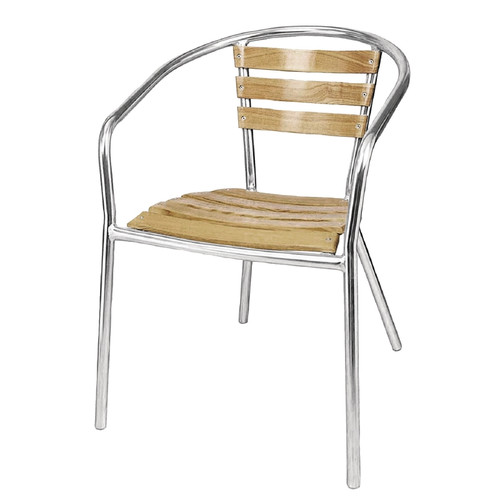 Pack of 4 London Outdoor Wooden Bar Chairs