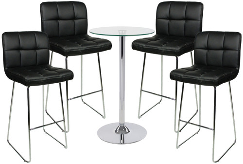 Allegro Fixed Height Curved Bar Stool and Como Table Package