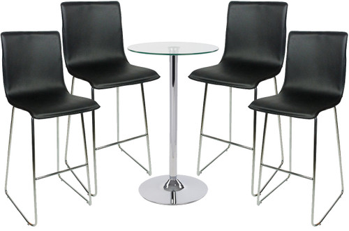 Giola Fixed Height Curved Bar Stool and Como Table Package