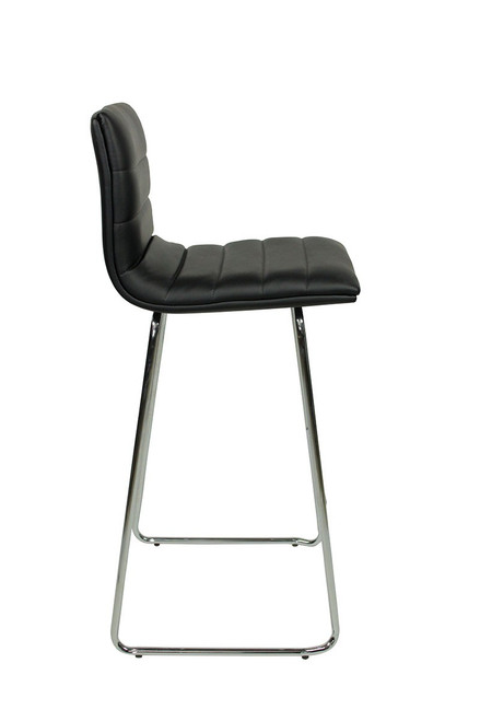 Aldo Fixed Height Curved Bar Stools Black