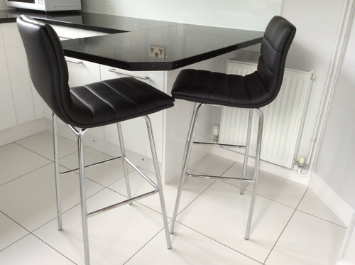 Aldo Fixed Height Bar Stools Black
