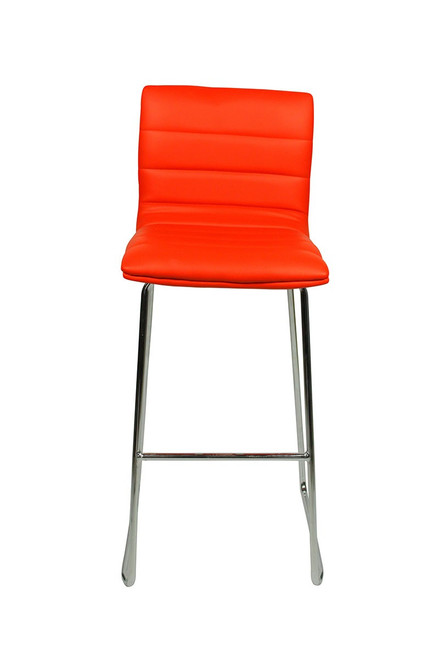 Aldo Fixed Height Curved Bar Stools Red