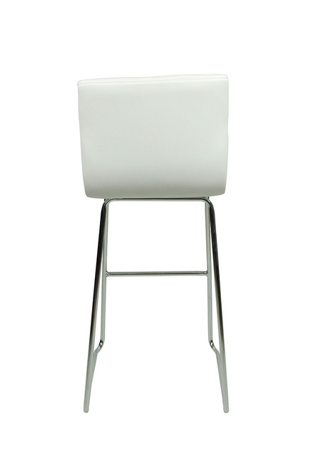Aldo Fixed Height Curved Bar Stools White