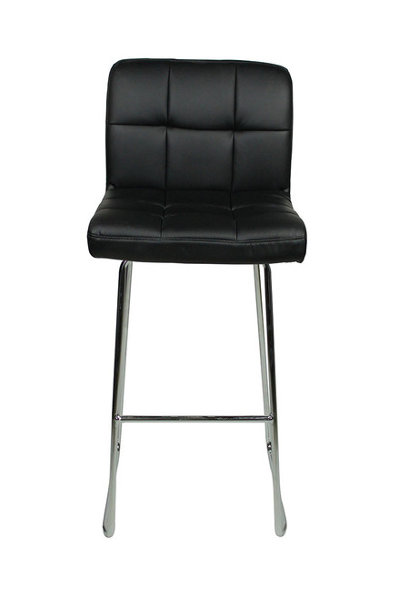 Allegro Fixed Height Curved Bar Stools Black