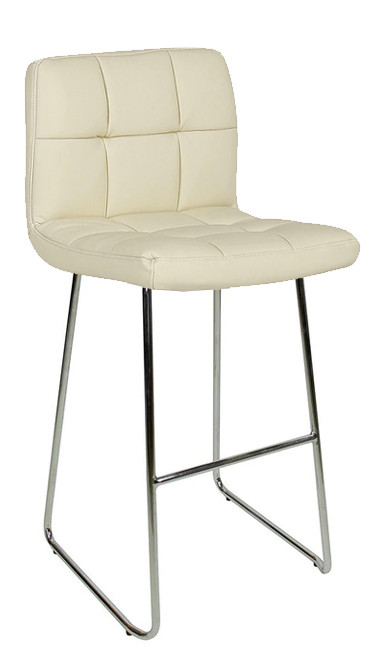 Allegro Fixed Height Curved Bar Stools Cream