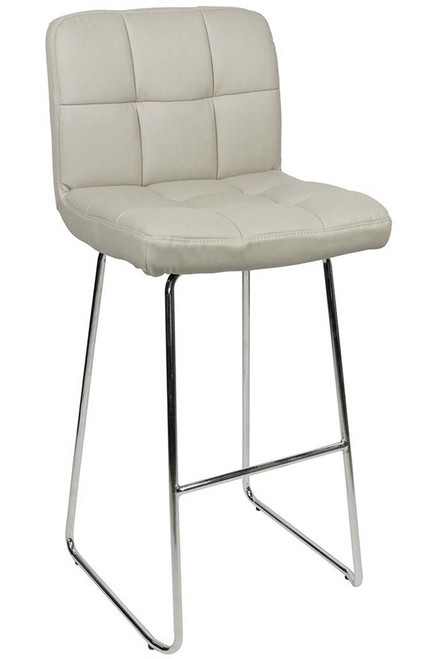 Allegro Fixed Height Curved Bar Stools Grey