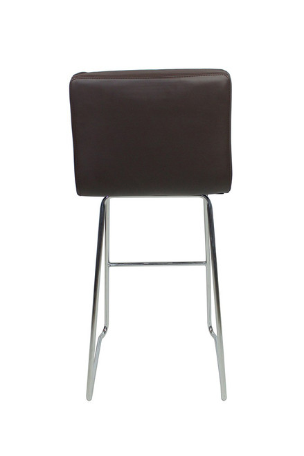 Luscious Fixed Height Curved Bar Stools Brown