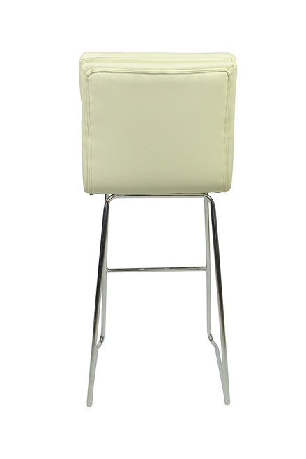 Moderno Fixed Height Curved Bar Stools Cream
