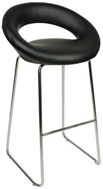 Sorrento Kitchen Fixed Height Curved Bar Stools Black