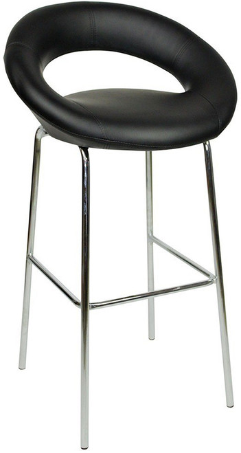 Sorrento Kitchen Fixed Height Bar Stools Black