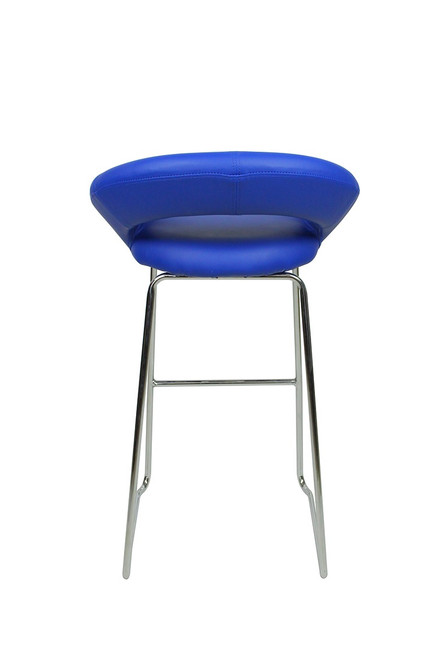 Sorrento Kitchen Fixed Height Curved Bar Stools Blue