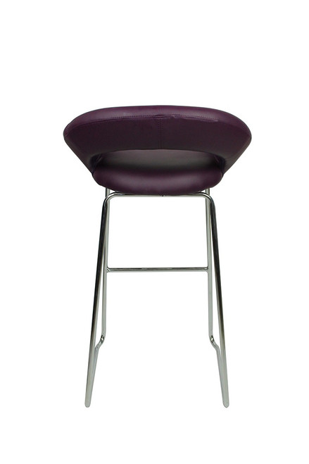 Sorrento Kitchen Fixed Height Curved Bar Stools Purple