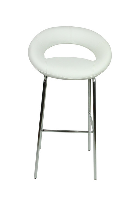 Sorrento Kitchen Fixed Height Bar Stools White Simply