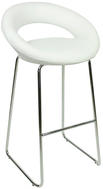 Sorrento Kitchen Fixed Height Curved Bar Stools White