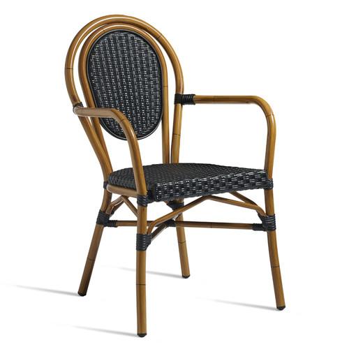 Time Arm Chair Black