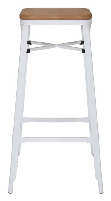 Turin White Bar Stool