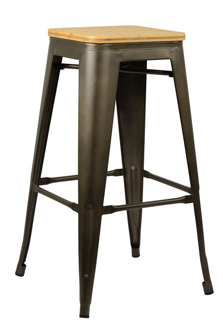 Tolix Natural Bar Stool