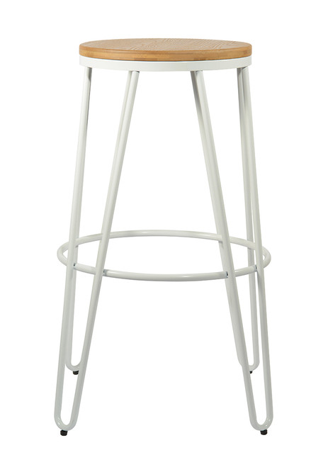 Onda White Natural Bar Stool
