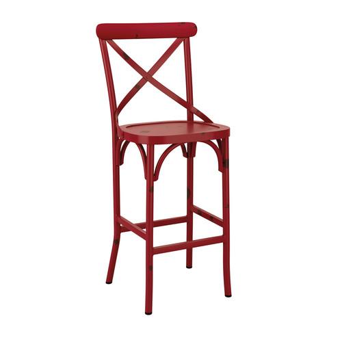 Cafe Bar Stool Vintage Red