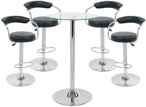 Zenith Bar Stools Amp Como Table Package Comfortable Amp Stable